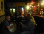 Paul playing his bodhran in Wee Toms